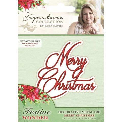 Sara Signature Festive Wonder Collection - Merry Christmas Die